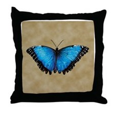 Blue Butterfly 2 Throw Pillow