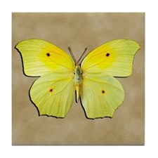 Yellow Butterfly Tile Coaster