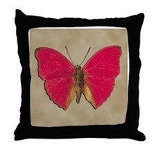 Red Butterfly 2 Throw Pillow