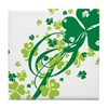 Shamrocks and Swirls Tile Coaster