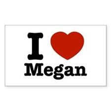 I love Megan Rectangle Decal