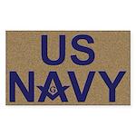 US NAVY Masonic Rectangle Sticker
