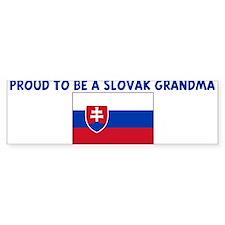 PROUD TO BE A SLOVAK GRANDMA Bumper Bumper Sticker