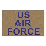 US Air Force Mason Rectangle Sticker