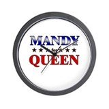 MANDY for queen Wall Clock