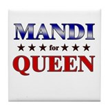 MANDI for queen Tile Coaster