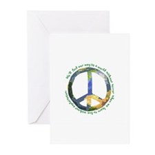 Peace Sign Greeting Cards (Pk of 10)