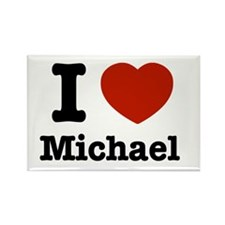 I love Michael Rectangle Magnet (100 pack)