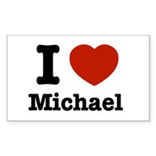 I love Michael Rectangle Decal