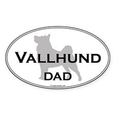 Vallhund Dad Oval Decal