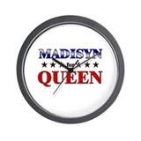 MADISYN for queen Wall Clock