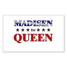 MADISEN for queen Rectangle Decal
