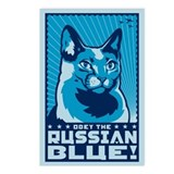 Russian Blue Postcards (Package of 8)