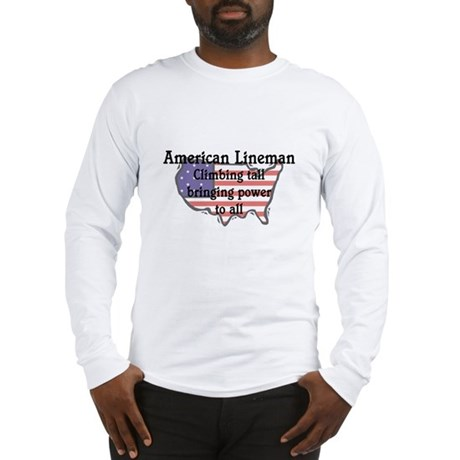 American Lineman Long Sleeve T-Shirt
