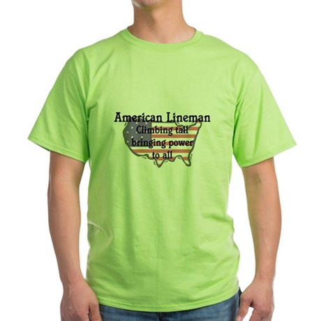 American Lineman Green T-Shirt