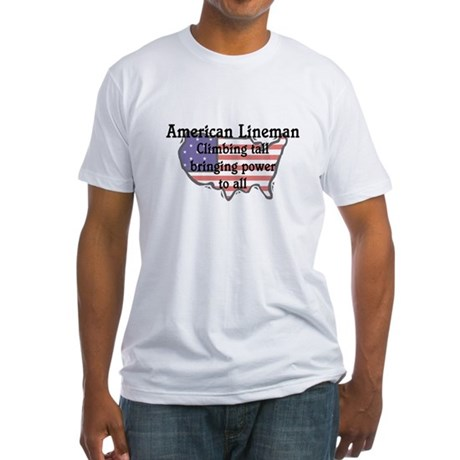 American Lineman Fitted T-Shirt