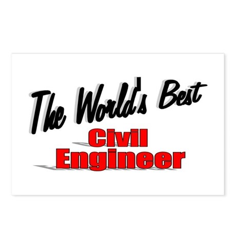 """The World's Best Civil Engineer"" Postcards (Packa"
