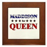 MADDISON for queen Framed Tile