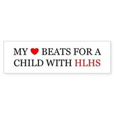 HLHS HEART Bumper Bumper Sticker