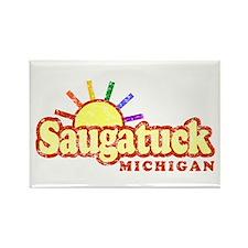 Sunny Gay Saugatuck, Michigan Rectangle Magnet