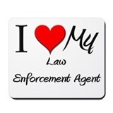 I Heart My Law Enforcement Agent Mousepad