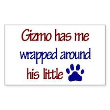 Gizmo Has Me Wrapped Around H Sticker (Rectangular