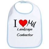 I Heart My Landscape Contractor Bib