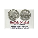 Unique Bison nickel Rectangle Magnet