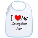 I Love My Senegalese Mom Bib