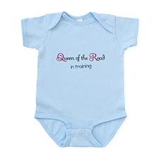 """Queen of the Road in training"" Infant Bodysuit"