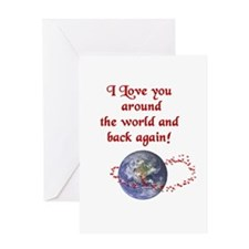 Love You Around the World and Back Greeting Card