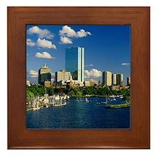 Boston Back Bay Area Framed Tile