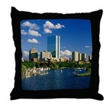 Boston Back Bay Area Throw Pillow