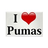 I Love Pumas Rectangle Magnet