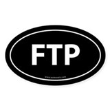 FTP (File Transfer Protocol) Sticker -Black (Oval)