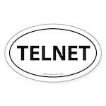 Telnet Euro Bumper Sticker -White (Oval)