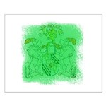Courage Heraldic Crest Small Poster