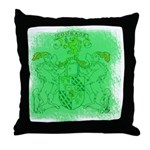 Courage Heraldic Crest Throw Pillow