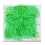 Courage Heraldic Crest Tile Coaster