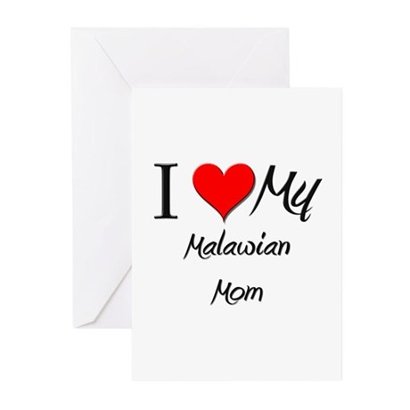 I Love My Malawian Mom Greeting Cards (Pk of 10)