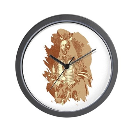 Indian Brave Wall Clock