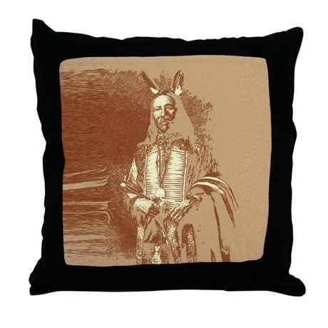 Indian Brave Throw Pillow