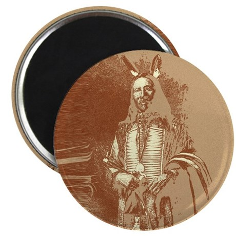 "Indian Brave 2.25"" Magnet (100 pack)"