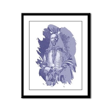 Indian Brave Framed Panel Print