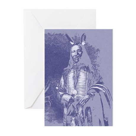 Indian Brave Greeting Cards (Pk of 10)