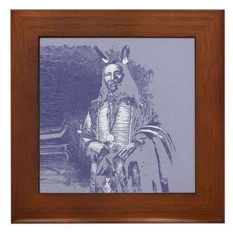 Indian Brave Framed Tile