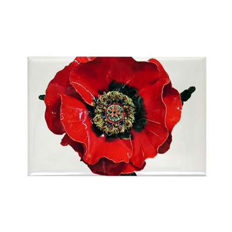 Poppy Rectangle Magnet (100 pack)