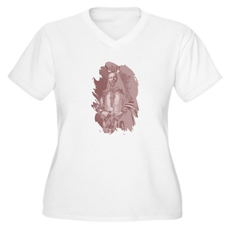 Native American Indian Women's Plus Size V-Neck T-