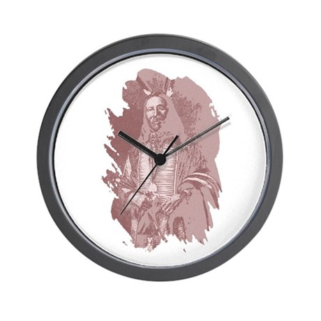 Native American Indian Wall Clock