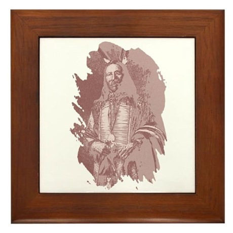 Native American Indian Framed Tile